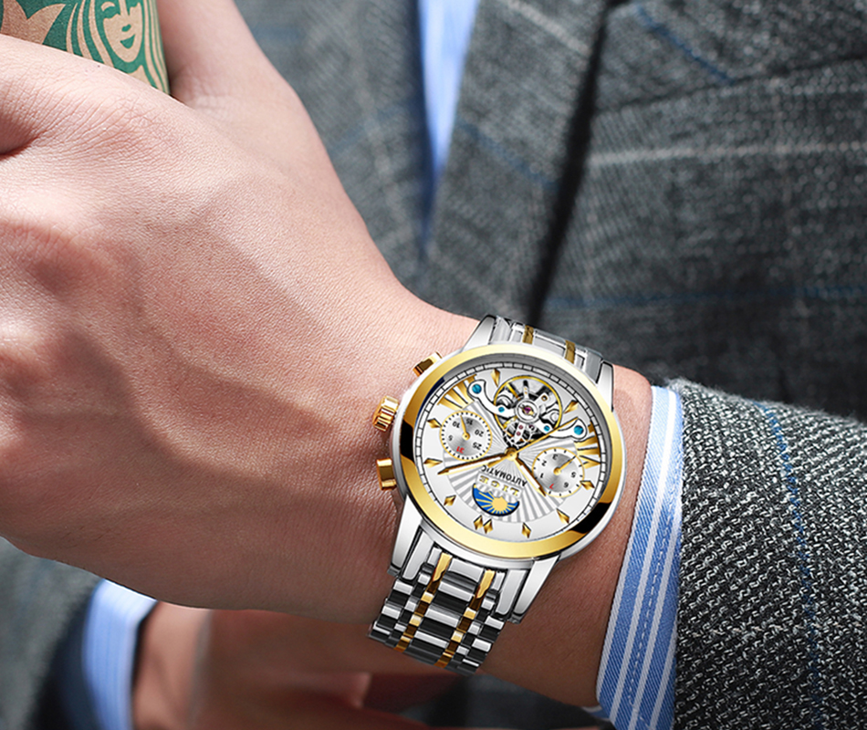 Hab9d06bc8dd04ca88ecae1252fda51434 LIGE Official Store Mens Watches Top Brand Luxury Automatic Mechanical Business Clock Gold Watch Men Reloj Mecanico de Hombres