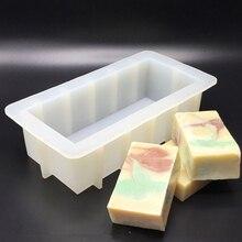Силиконовые Густой мыло формы дома домашние ручной работы мыло формы прямоугольные силиконовые нетоксичный безвредный в виде тоста, торта пресс-формы для выпечки