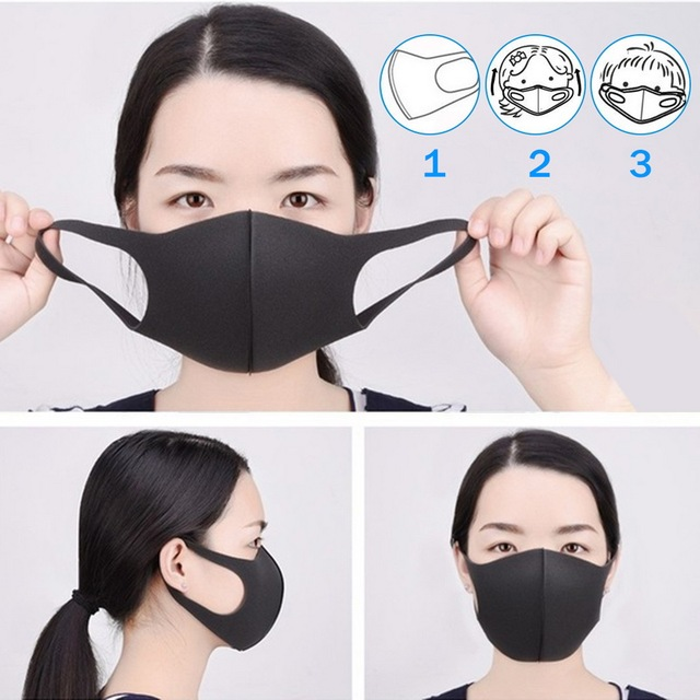 Nano-polyurethane Black Mouth Mask Anti Dust Mask Activated Carbon Windproof Mouth-muffle Bacteria Proof Flu Face Masks 3