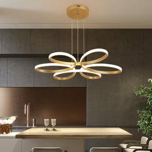 Image 5 - โมเดิร์นโคมไฟระย้าLedโคมไฟสำหรับห้องนั่งเล่นLamparasโคมไฟระย้าแสง72W 90W 120W Lampadarioโคมไฟแสง