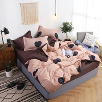 Slow Dream Fitted Sheets On Elastic Band Bedding Set Nordic Rubber Sheet Double Twin Bedspread Duvet Cover Set Bed Linen XHS0136