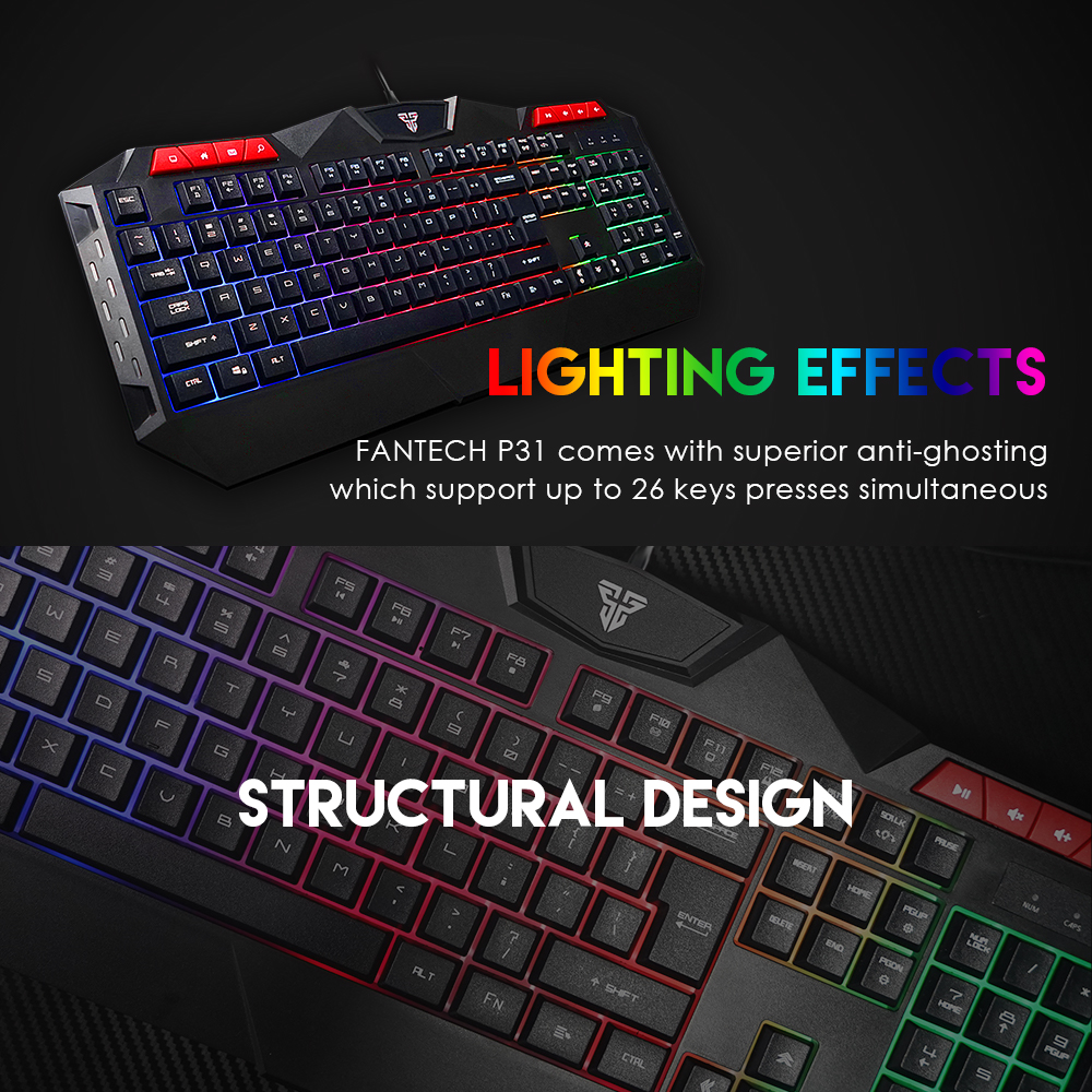 Fantech P31 Keyboard, Mouse and Mousepad 6
