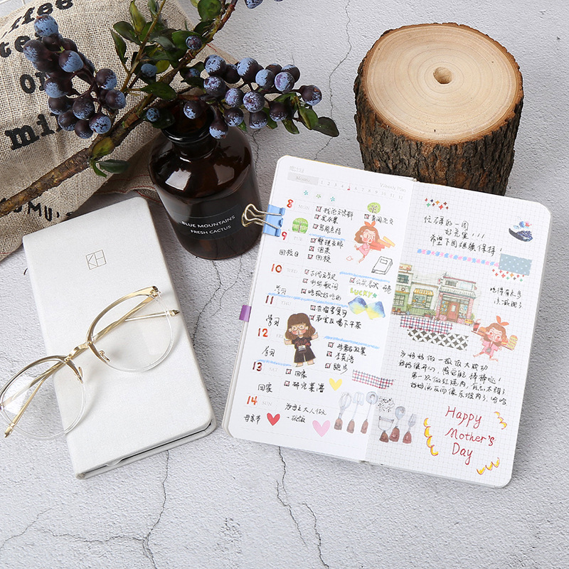 Image 3 - Creative DIY Weekly Plan Notebook Pure Color Pocket Journal Planner Diary Note Paper Gifts School Office Stationery Supplies-in Notebooks from Office & School Supplies