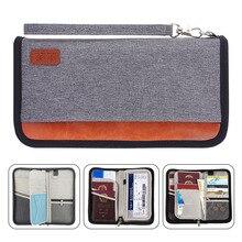 Portefeuille de voyage, RFID bloquant la famille porte passeport sacoche de rangement porte passeport organisateur de Document en espèces pour cartes/billets/