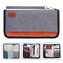 Travel Wallet,RFID Blocking Family Passport Holder Carry Storage Case Passport Holder Cash Document Organizer for Cards/Tickets/