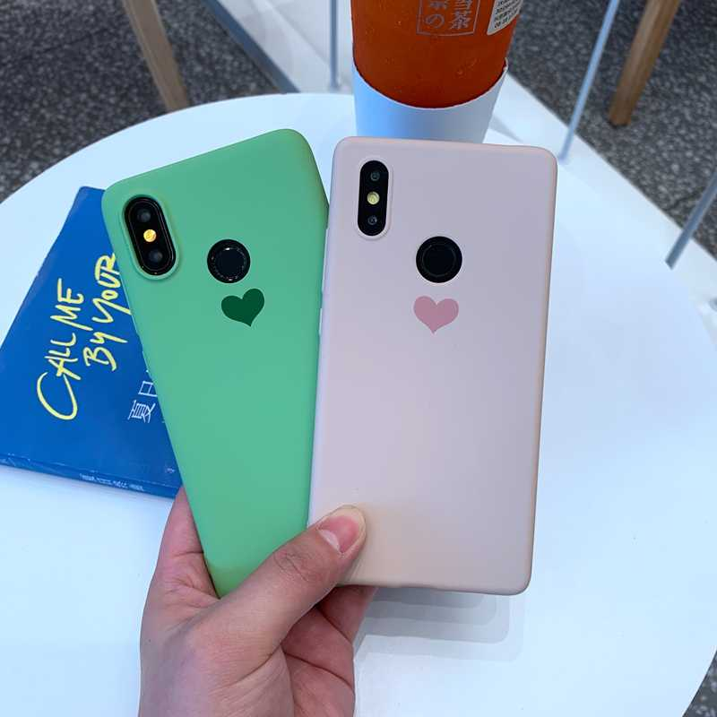 Для Xiaomi mi 9 9T 8 SE A1 A2 A3 Lite Red mi 6 6A Note 5 Plus 7 K20 Pro S2 candy color Love Heart Мягкий силиконовый чехол из ТПУ