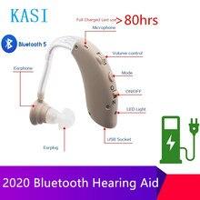 Bluetooth Wiederaufladbare Digitale Hörgeräte Ton Verstärker Drahtlose Ohr Aids für Ältere Moderate zu Schweren Verlust Drop Verschiffen