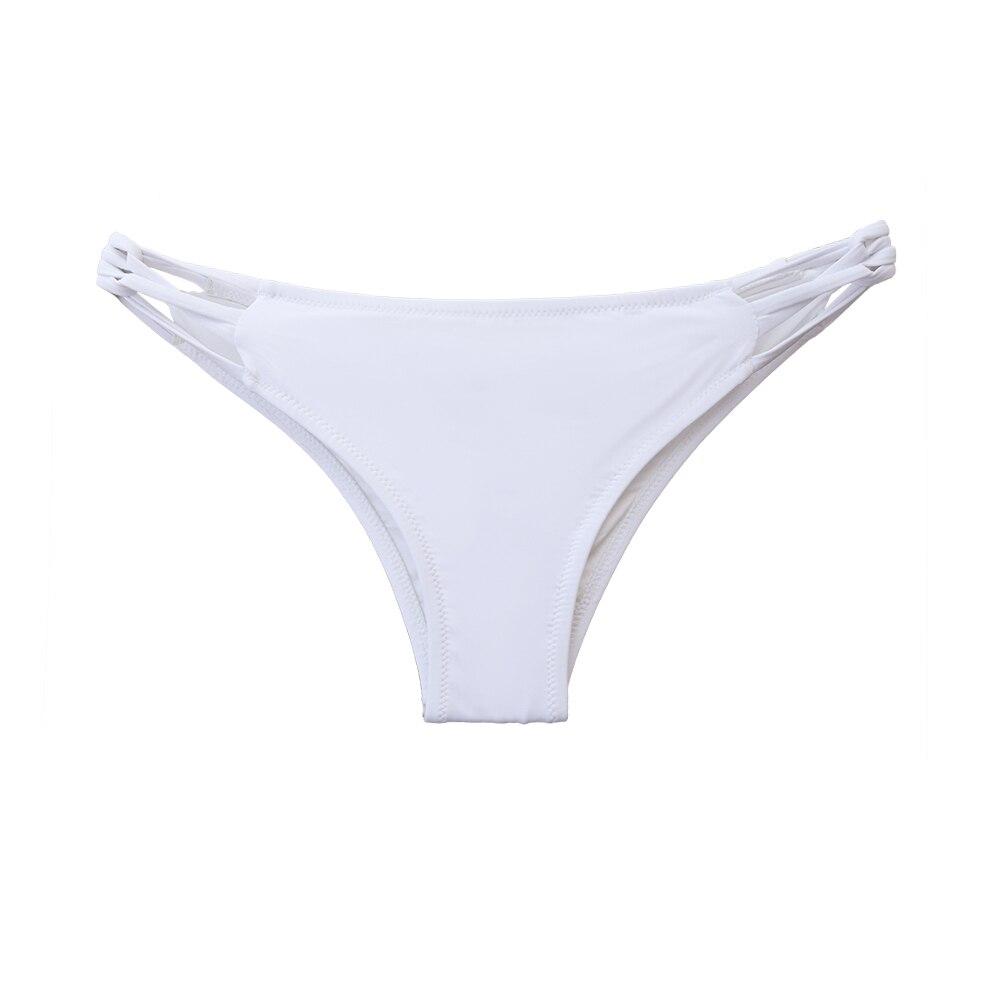 Woman T-back Cheeky Bikini Bottoms Womens Secret Bikinis Bottom Thong Sexy Swimsuit Vintage Swimwear Black Brazilian Biquini 2