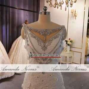 Image 2 - מיוחד עיצוב שמלות כלה מלא ואגלי תחרה חתונה שמלת בת ים
