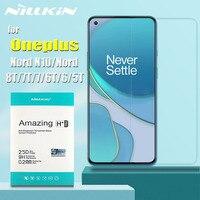 OnePlus 9 Nord N10 8T 7T 7T 6T 5 Protector de pantalla de vidrio templado de Nillkin 9H Protector transparente de vidrio en uno más 9 Nord 8T 7T 6T