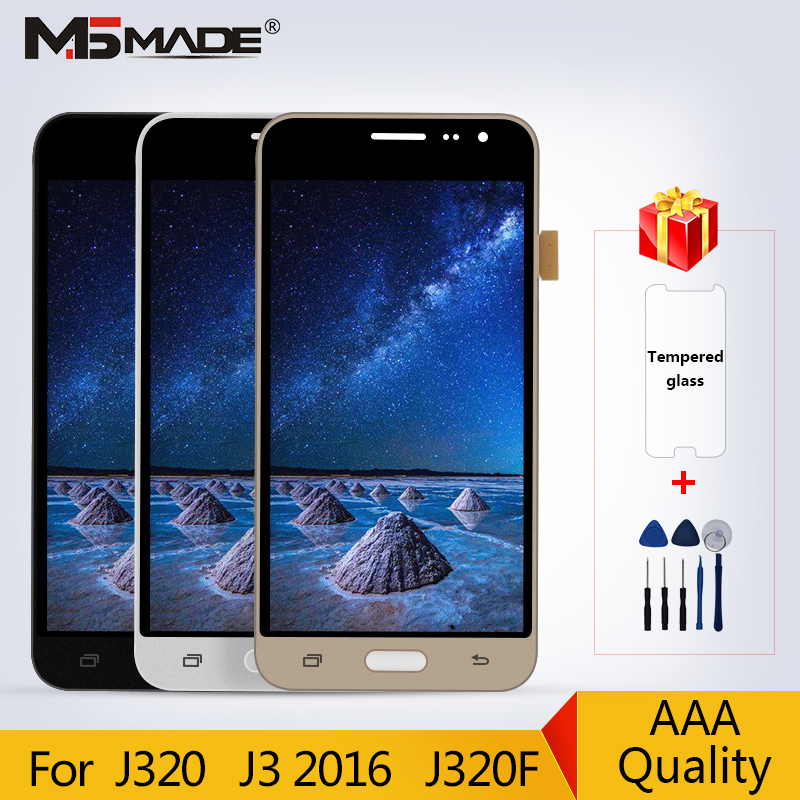 Original Super AMOLED For Samsung Galaxy J3 2016 J320 LCD J320F J320A J320M J320Y LCD Touch Screen Digitizer Display For J3 LCD