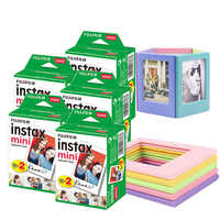20-100 Sheets White Fujifilm Instax Mini 9 Film with 5 Magnet Photo Frames For Fuji Instax Mini 8 9 7s 70 90 25 Liplay SP-1 SP-2