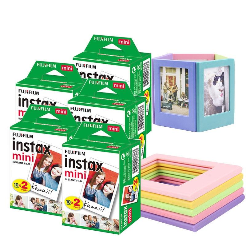 20-100 folhas branco fujifilm instax mini 9 filme com 5 quadros de fotos ímã para fuji instax mini 8 9 7s 70 90 25 liplay SP-1 SP-2