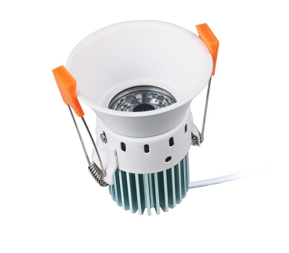 12W 85-265V AC Ceiling Light White Aluminnum Indoor Lighting Led downlight Dimmable COB Spot Lamp Knob Switch Foyer Spotlights (8)