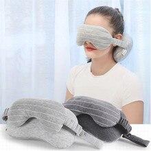 Taşınabilir U şeklinde yastık çok fonksiyonlu 2 in 1 göz maskesi boyun yastık uçak ofis uyuklayan yastıklar rahat ev dekor