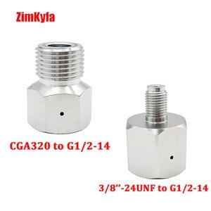 Image 2 - Co2 bote de depósito regulador Adaptador convertidor adaptador Sodastream,Paintball,CGA320,W21.8 cilindro a herramienta de aire, HomeBrew, acuario
