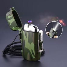 Usb плазменная зажигалка с двойной дугой для кемпинга перезаряжаемая