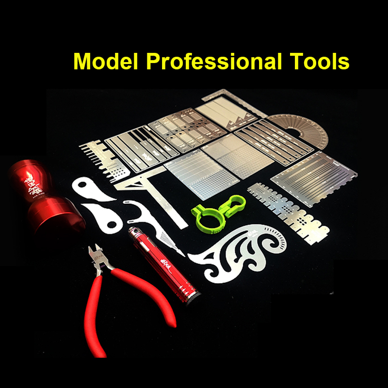 Model Transformation Tools Combo Engraved Line Pusher/Positioning Ruler/Cover Plate/Punch/Cutting/Polished