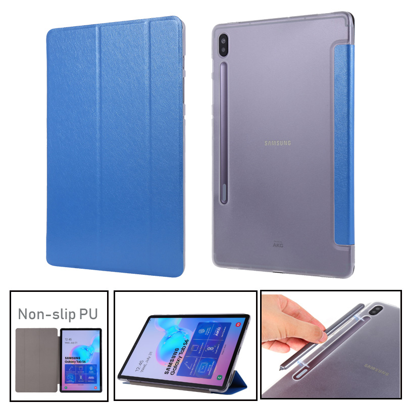 Case For Samusng Galaxy Tab S6 10.5 inch 2018 SM-T860 SM-T865 T865 Cover Flip Tablet Cover Leather Smart Magnetic Stand Shell image