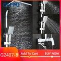 GAPPO Набор смесителей для душа  бронзовый водопад  настенный смеситель для ванны  смеситель для душа  хромированный набор для душа для ванной ...