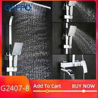 GAPPO shower faucet set bronze waterfall wall bathtub faucet mixer tap shower head chrome Bathroom Shower set G2407 G2407-8