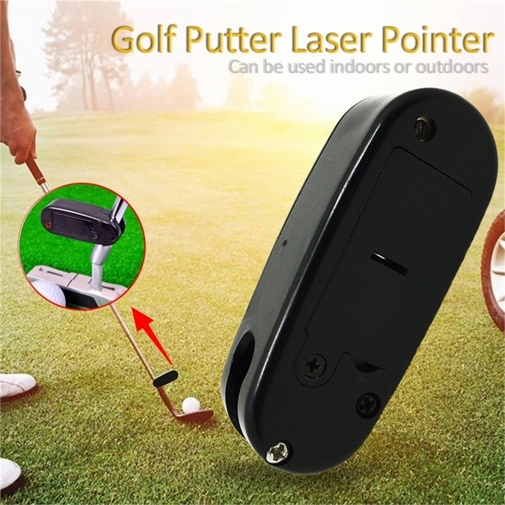 Black Golf Putter Laser Pointer Putting Practice Aim Line Corrector Improve Training Aid  Tool Golf Accessories For Markers