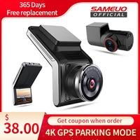 Sameuo U2000 dash cam anteriore e posteriore 4k 2160P 2 telecamera CAR dvr wifi dashcam videoregistratore Auto Night Vision 24H Monitor di parcheggio