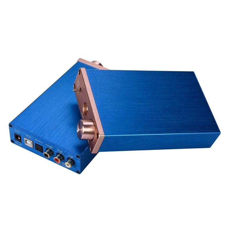 MOOL NK-P90 With USB/Fiber/Coax Digital Audio Amplifier DA-C Decoder Audio Converter Digital-To-Analog Audio Converter(EU Plug)