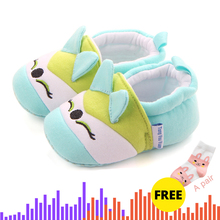 Buy One Get Two Newborn Baby Girl Boy Shoes Cute Animal Princess Kid Anti-slip On 0-24 Months Toddler Crib First Walkers