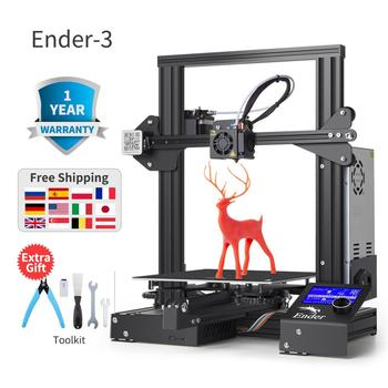 2019 Ender-3 Ender-3X 3D drukarki DIY zestaw wielkoformatowe drukarki 3D kontynuacja druku mocy Płyta magnetyczna Creality 3D Ender 3 tanie i dobre opinie 1 75mm 80MM S 0 1-0 4mm 200MM S 180mm s PLA ABS TPU Copper Wood Carbon Fiber Gradient 360W 0 01 110-220 V Standard 0 4mm(Custom Options 0 3 0 2MM))