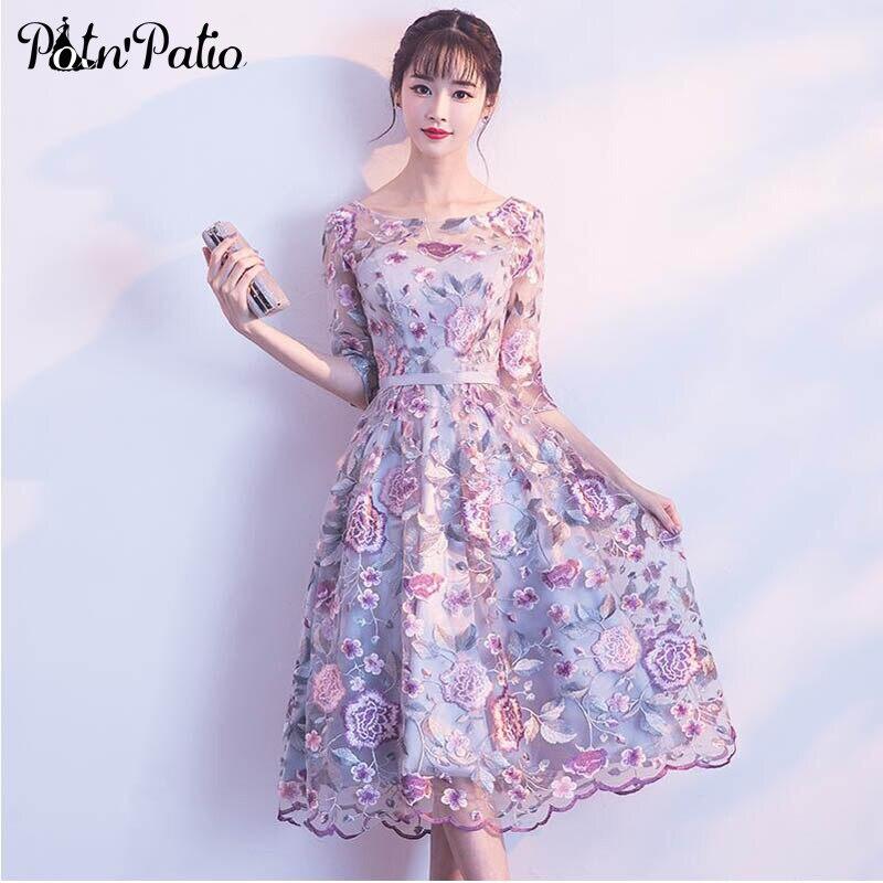Robes de soirée élégantes en dentelle avec manches encolure dégagée une ligne moyenne longue robes Fromal grande taille robes de mère de mariée