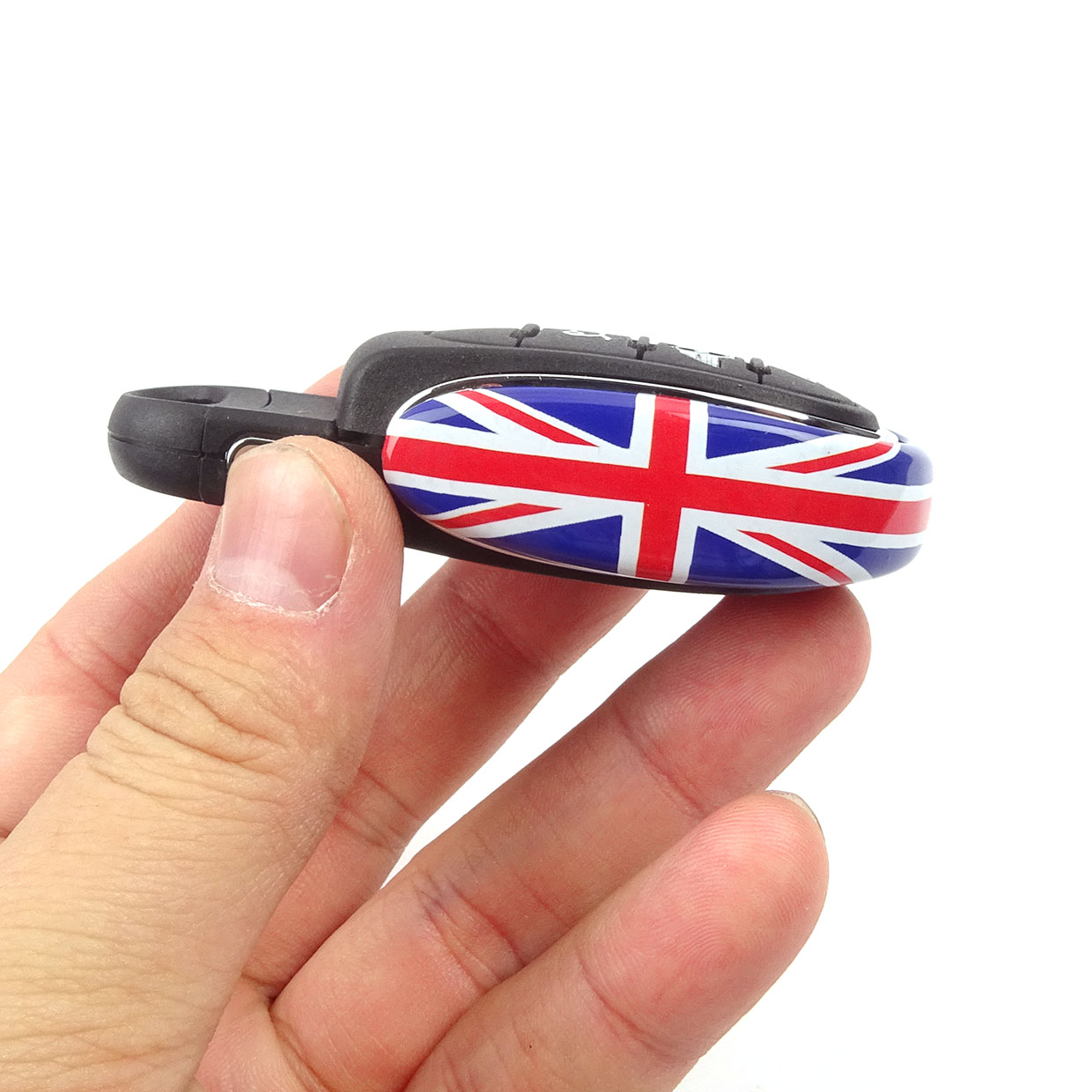 Union Jack Car Styling Key Bag Decoration Key Chain Case Housing Cover Protector For Mini Cooper S F54 F55 F56 F60 Accessories