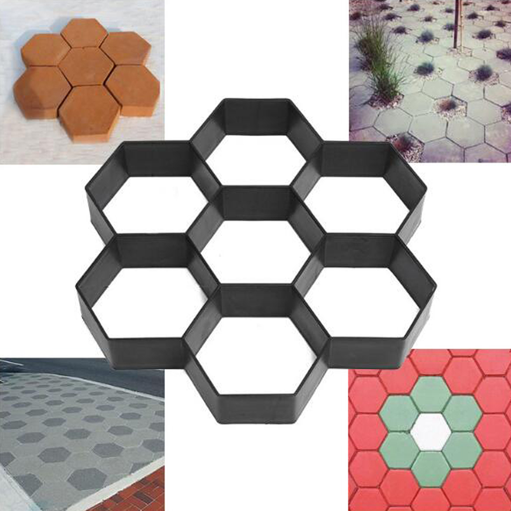 Garden Pavement Mold Hexagon Path Walk Pavement Concrete Mould DIY Manually Paving Cement Brick Stone Road Mold For Road