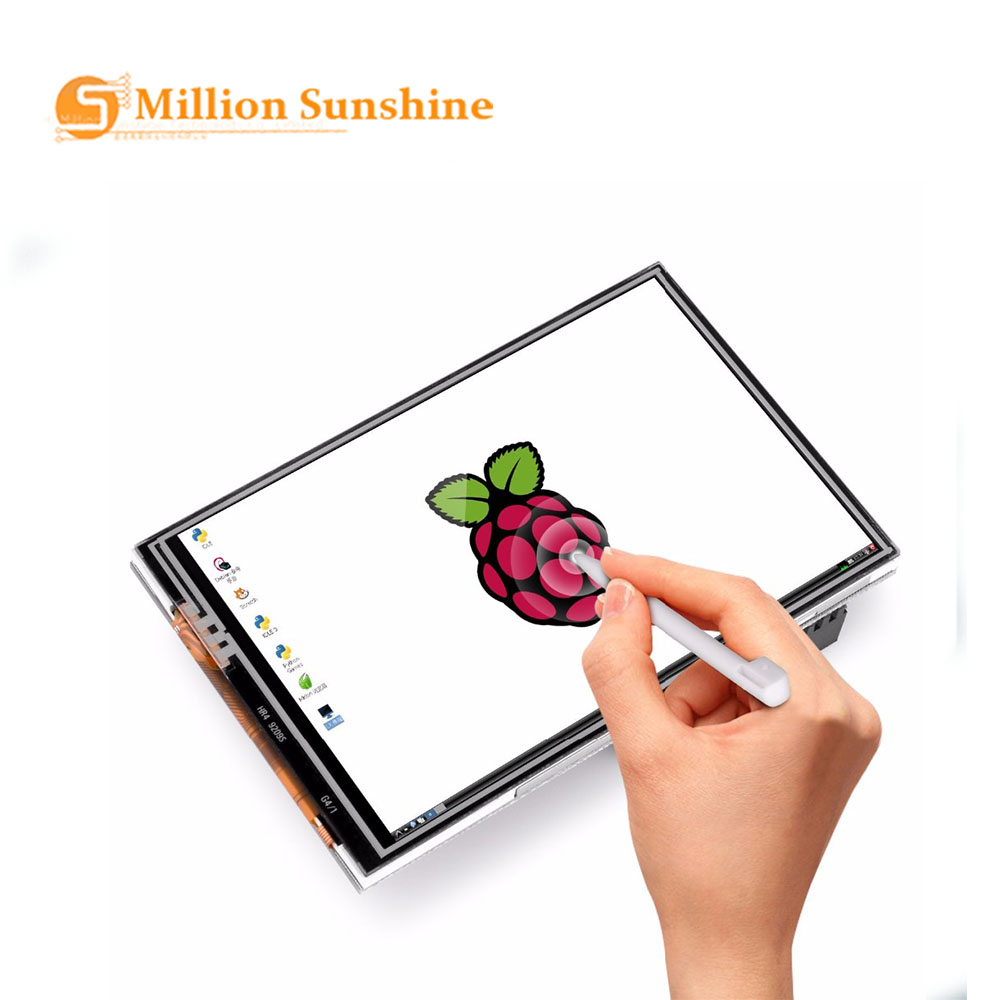<font><b>3</b></font>.5 Inch <font><b>TFT</b></font> <font><b>LCD</b></font> Display Touch Screen Monitor for Raspberry Pi <font><b>3</b></font> <font><b>2</b></font> Model B Raspberry Pi 1 Model B+ 480x320 RGB Pixels with Case image