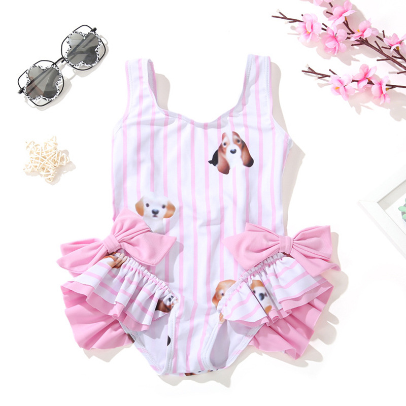 New Products KID'S Swimwear Women's Girls Cute Little Princess One-piece Swimwear INS Baby Infant Children Tour Bathing Suit