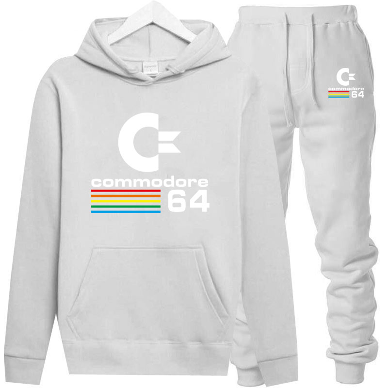 2019 Autumn Commodore 64 Raglan Hoodies C64 SID Amiga Retro 8-bit Ultra Cool Design Vinyl Hoodie Mens Personality Sweatshirt Set