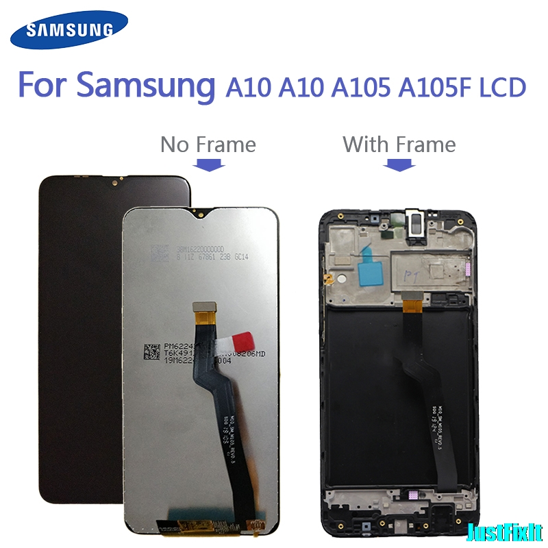100% Original For <font><b>Samsung</b></font> Galaxy <font><b>A10</b></font> A105 A105F SM-A105F <font><b>LCD</b></font> Display With Touch <font><b>Screen</b></font> Digitizer Assembly image