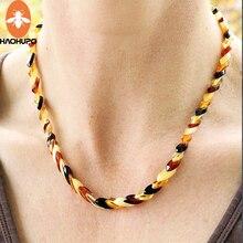 Многослойное ожерелье из янтаря в стиле Балтики/ожерелье из бисера в форме листа/женское ожерелье/цветное ювелирное изделие для матери в по...