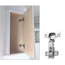 New Cabinet Hinge Stainless Steel Door Hydraulic Hinges Damper Buffer Soft Close For Cabinet Cupboard Furniture Accessories half overlay hinge stainless steel door hydraulic satin nickel hinges buffer soft close for cabinet furniture hardware