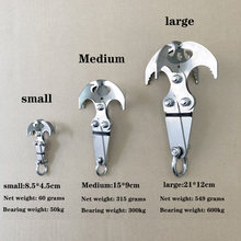 Folding gravity grab hook outdoor rock climbing rescue claw survival mountaineering hook tool multifunctional stainless steel