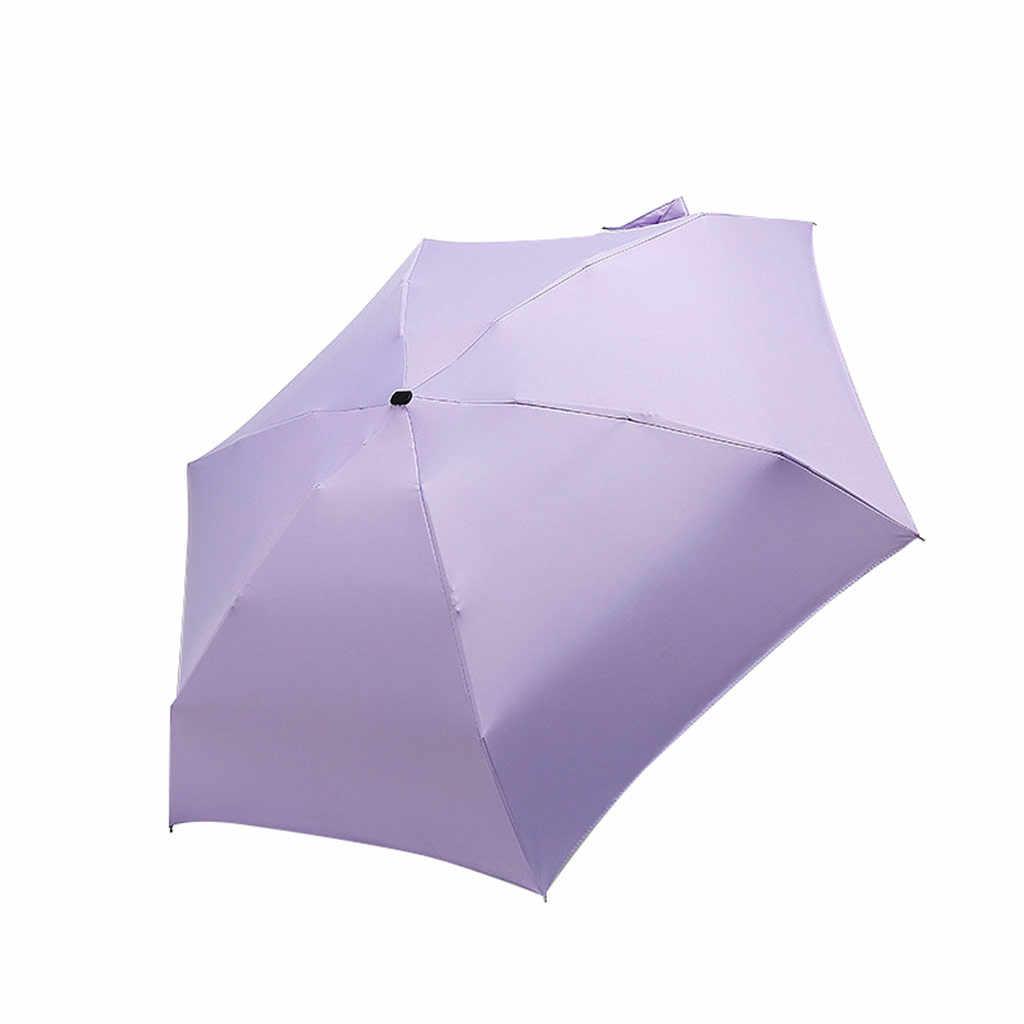 傘ポケットミニ雨具女性防風耐久性 5 折りたたみパラソルポータブル日焼け女性パラソル旅行傘