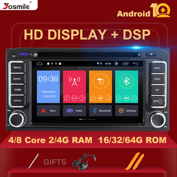 2 din Android 10 Car Radio Multimedia For Toyota UniversalLand Cruiser 100 200 Prado 120 150 Rush RAV4 Corolla YarisHiluxDSP 4GB image