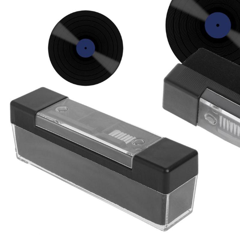 cheapest 1 Set Carbon Fiber Velvet Anti Static Cleaning Brush for LP Vinyl Records Tools