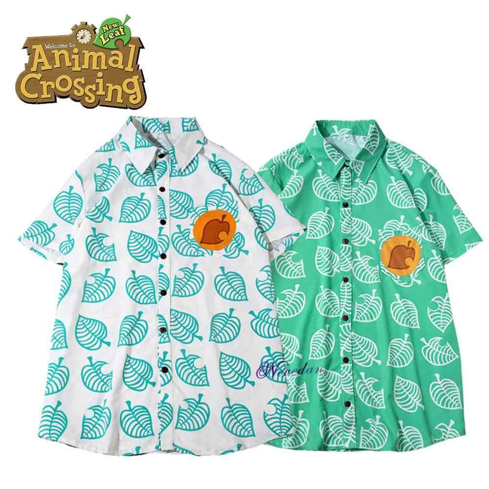 Animal Crossing Nuovi Orizzonti Foglia di Tom Nook Cosplay Camicia Uomini Donne Anime Gioco T-Shirt Costume Manica Corta T Shirt Per Adulti bambini