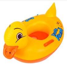 Детское надувное кольцо для плавания с желтой уткой безопасное