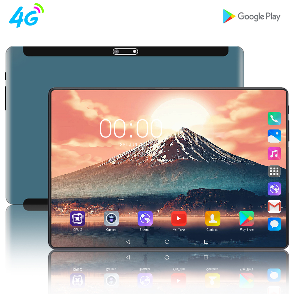 Newest 10 Inch Tablet PC MTK8752 Octa Core 8GB RAM 128GB ROM Android 9.0 3G 4G 2.5D Super Glass Screen Tablets 10.1