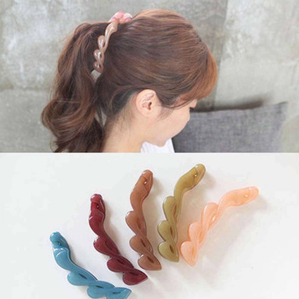 1 шт. зажим для волос в виде банана для девочек Корейская заколка для волос держатель для хвоста женские заколки для волос аксессуары для волос Инструменты для плетения Шпильки и заколки для волос      АлиЭкспресс
