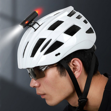 Lixada الدراجة الجبلية ضوء USB قابلة للشحن الدراجات خوذة المصباح مقاوم للماء إضاءة أمامية للدراجة الخلفية الضوء الخلفي مصباح يدوي