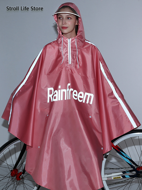 Adult Bicycle Rain Poncho Rain Coat Women Jacket Red Raincoat Men Anti- Riding Windbreaker Rainwear Capa De Chuva Gift Ideas 1