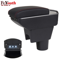 Car-Armrest-Box Duster Renault Storage-Box Centre-Console for Usb-Charging Led-Light